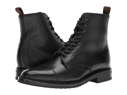 Incaltaminte Barbati Frye Officer Lace-Up Black Smooth Pull UpScotch Grain
