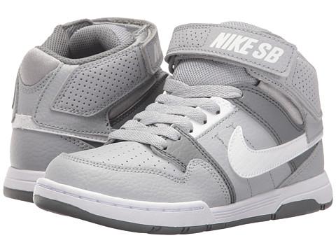 Incaltaminte Baieti Nike SB Kids Mogan Mid 2 Jr (Little KidBig Kid) Wolf GreyWhiteCool Grey