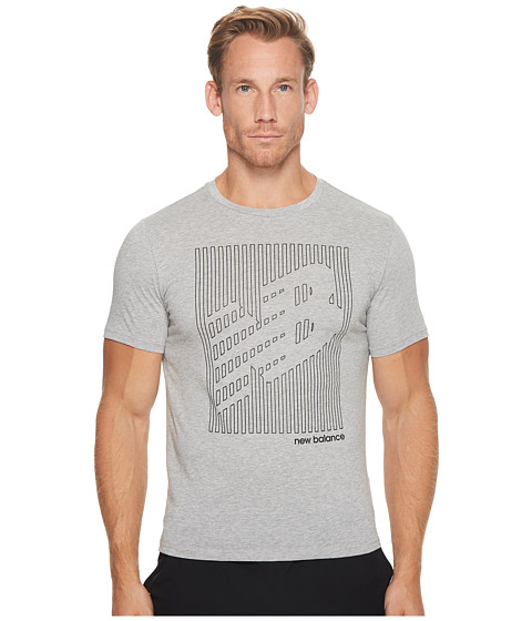 Imbracaminte Barbati New Balance Heather Tech Short Sleeve NB Graphic Athletic Grey