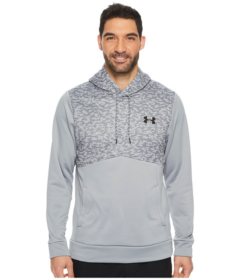 Imbracaminte Barbati Under Armour Armourreg Fleece Hoodie - Digi Texture SteelSteelBlack