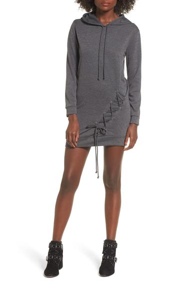 Imbracaminte Femei dee elly Lace Up Hoodie Dress CHARCOAL