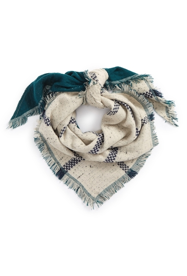 Accesorii Femei David Young Marled Plaid Reversible Square Scarf HUNTER GREEN