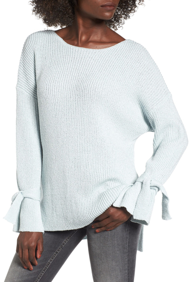 Imbracaminte Femei Lush Tie Sleeve Sweater BALLARD BLUE