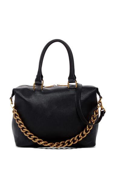 Genti Femei Deux Lux Roma Chain Satchel Bag BLACK