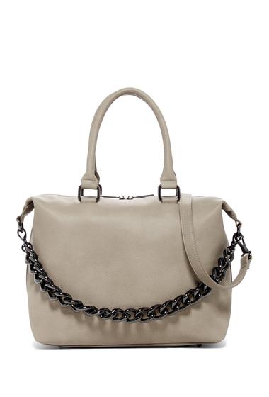 Genti Femei Deux Lux Roma Chain Satchel Bag GREY