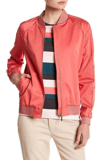 Imbracaminte Femei Ted Baker London Calda Contrast Trim Bomber Jacket CORAL