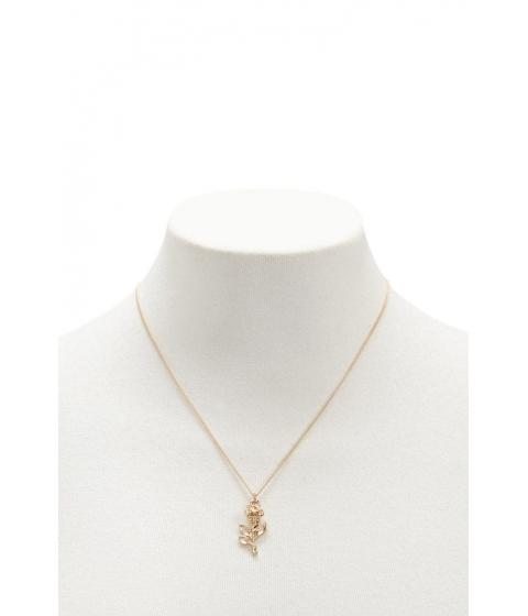 Bijuterii Femei Forever21 Rose Pendant Necklace GOLD