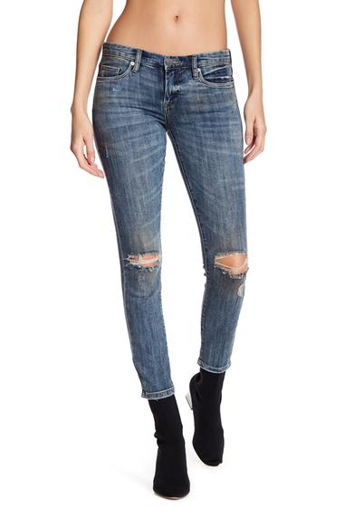 Imbracaminte Femei BLANKNYC Denim Distressed Skinny Jeans DISCO NAP