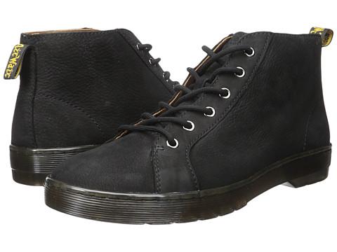 Incaltaminte Barbati Dr Martens Coburg 6-Eye Suede LTT Boot Black Slippery WpBlack Co Cotton Drill