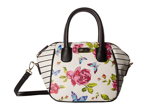 Genti Femei Luv Betsey by Betsey Johnson Quinn Mini Size PVC Satchel WhiteRaspberry