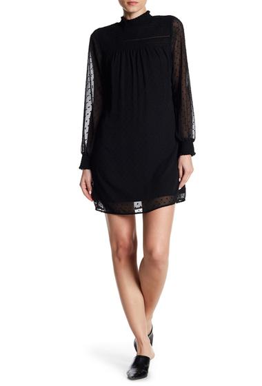 Imbracaminte Femei Dex Long Sleeve Textured Mock Neck Dress 10001-BLACK