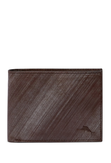Accesorii Barbati Tommy Bahama Brush Off Slimfold Leather Wallet BROWN