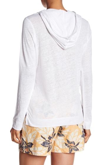 Imbracaminte Femei Tommy Bahama Linnea Pullover Linen Hoodie WHITE