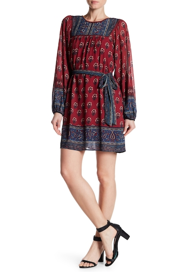 Imbracaminte Femei Flying Tomato Paisley Flower Print Dress BURGUNDY