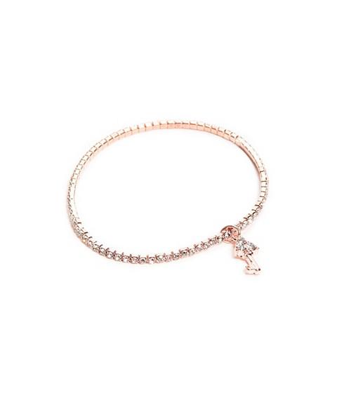 Bijuterii Femei GUESS Rose Gold-Tone Key Charm Stretch Bracelet rose gold