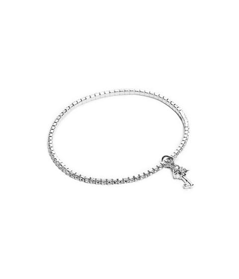 Bijuterii Femei GUESS Silver-Tone Key Charm Stretch Bracelet silver