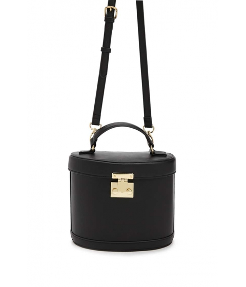 Genti Femei Forever21 Faux Leather Crossbody Bag BLACK