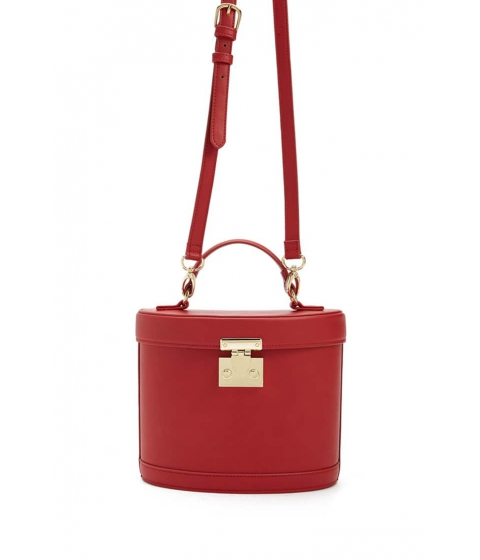 Genti Femei Forever21 Faux Leather Crossbody Bag RED