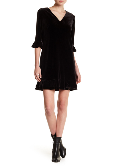 Imbracaminte Femei CeCe by Cynthia Steffe Kate Ruffle Dress RICH BLACK