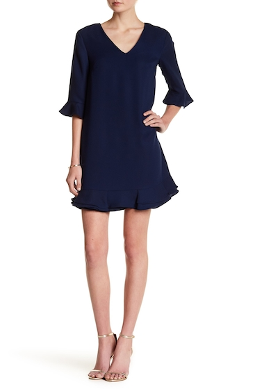 Imbracaminte Femei CeCe by Cynthia Steffe Kate V-Neck Ruffle Dress MIDNIGHT B