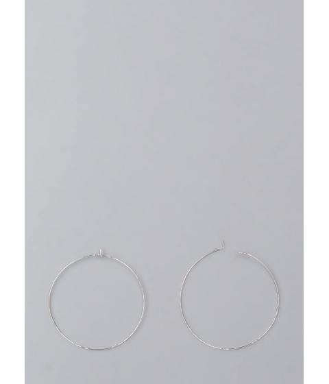 Bijuterii Femei CheapChic Down To The Wire Thin Hoop Earrings Silver