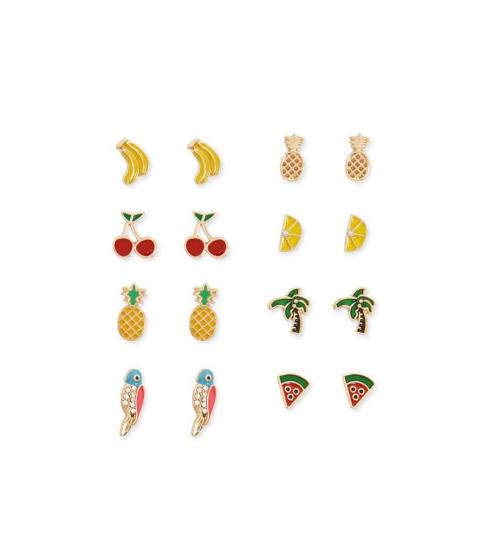 Bijuterii Femei Forever21 Fruit Stud Earring Set GOLDMULTI
