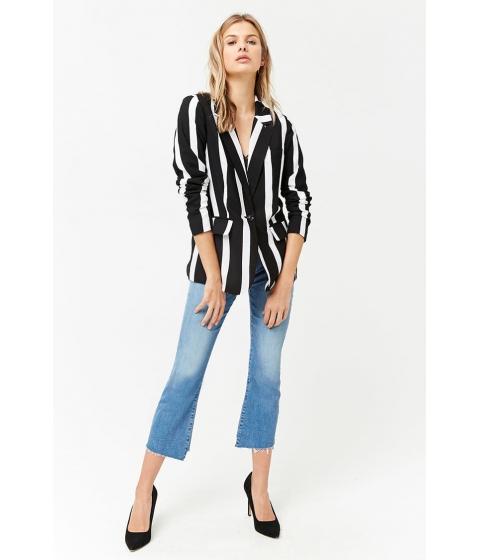 Imbracaminte Femei Forever21 Contrast Stripe Blazer BLACKIVORY