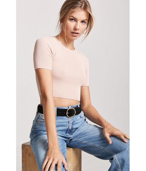 Imbracaminte Femei Forever21 Knit Crop Top BLUSH