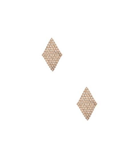 Bijuterii Femei GUESS Rose Gold-Tone Diamond-Shaped Earrings rose gold