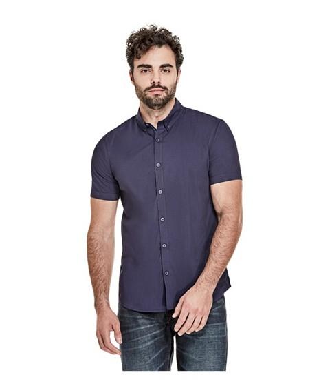 Imbracaminte Barbati GUESS Earl Short-Sleeve Shirt nightfall blue