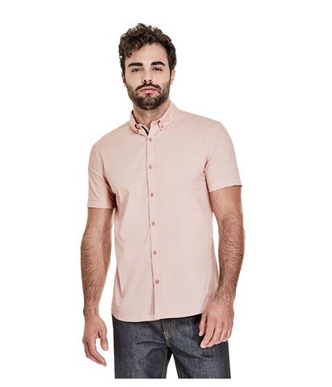 Imbracaminte Barbati GUESS Earl Short-Sleeve Shirt rose smoke