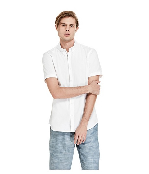 Imbracaminte Barbati GUESS Earl Short-Sleeve Shirt true white