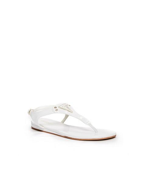 Incaltaminte Femei GUESS Carmela T-Strap Sandals white patent