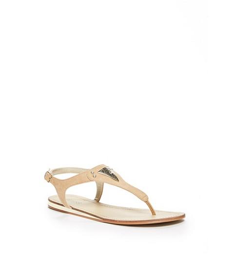 Incaltaminte Femei GUESS Carmela T-Strap Sandals light natural leather