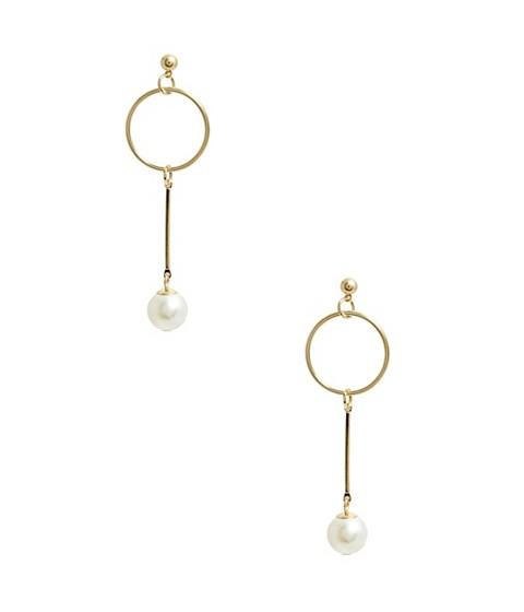 Bijuterii Femei GUESS Gold-Tone Pearl Earrings gold