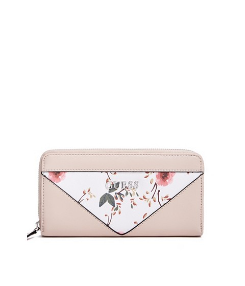 Accesorii Femei GUESS Circlewood Floral Zip-Around Wallet pink multi