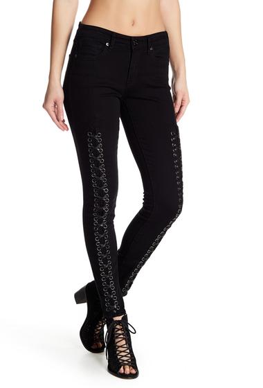 Imbracaminte Femei True Religion Jennie Lace-Up Skinny Jeans ELWB BLACK DIAMOND