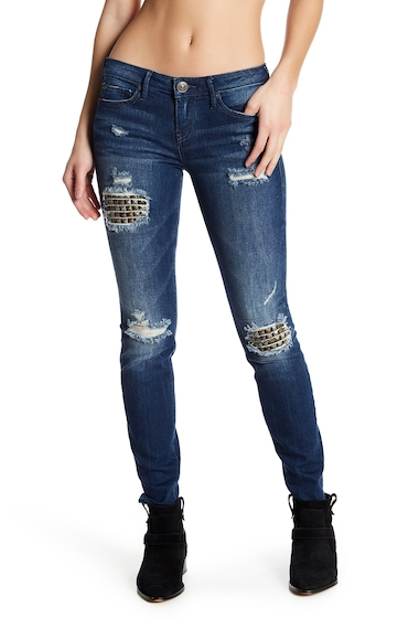 Imbracaminte Femei True Religion Halle Distressed Studded Skinny Jeans EFWD MENDE