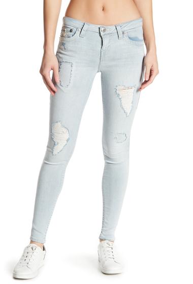 Imbracaminte Femei True Religion Distressed Super-Skinny Jeans ENUL DELICATE FROST