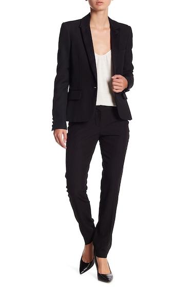 Imbracaminte Femei Amanda Chelsea Pin Stripe Slim Pants Petite BLACK