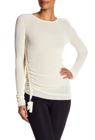 Imbracaminte Femei Helmut Lang Crepe Shirred Side Pullover IV