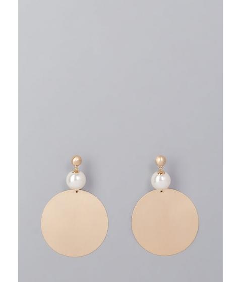 Bijuterii Femei CheapChic Disc Jockey Faux Pearl Earrings Gold