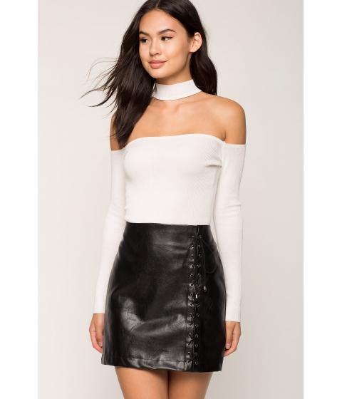 Imbracaminte Femei CheapChic Long Sleeve Off Shoulder Choker Sweater Ivory