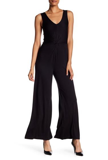 Imbracaminte Femei Vanity Room Twist-Front Wide Leg Jumpsuit Petite BLACK