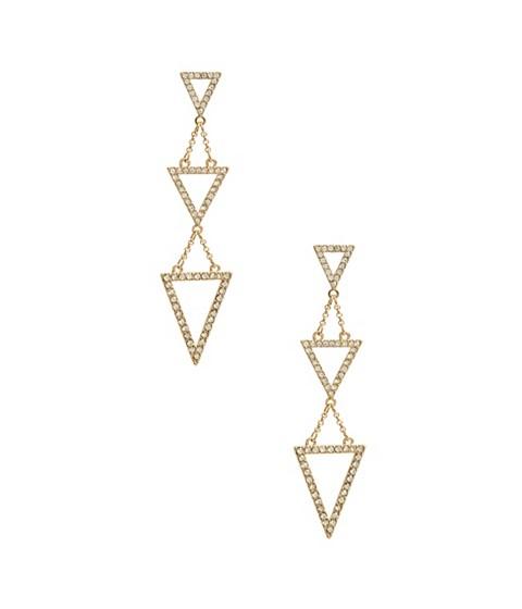 Bijuterii Femei GUESS Gold-Tone Triple Triangle Earrings gold