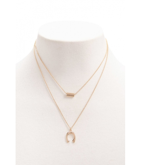 Bijuterii Femei Forever21 Layered Pendant Necklace GOLD