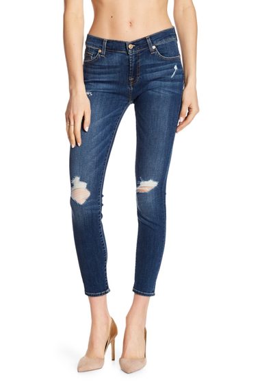 Imbracaminte Femei 7 For All Mankind The Ankle Skinny Jeans MEDMELRSE2