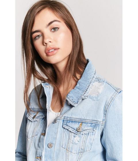 Imbracaminte Femei Forever21 Distressed Denim Jacket MEDIUM DENIM