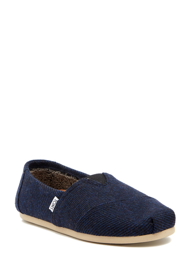 Incaltaminte Barbati TOMS Alpargata Wool Slip-On Sneaker NAVY