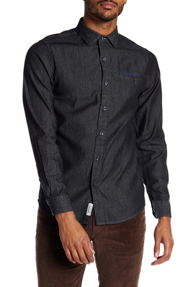 Imbracaminte Barbati Report Collection Chambray Slim Fit Shirt GREY